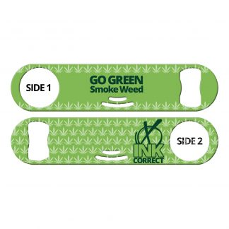 Go Green Smoke Weed Strainer Bottle Opener