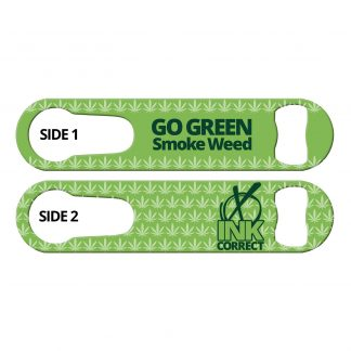 Go Green Smoke Weed PSR Bottle Opener