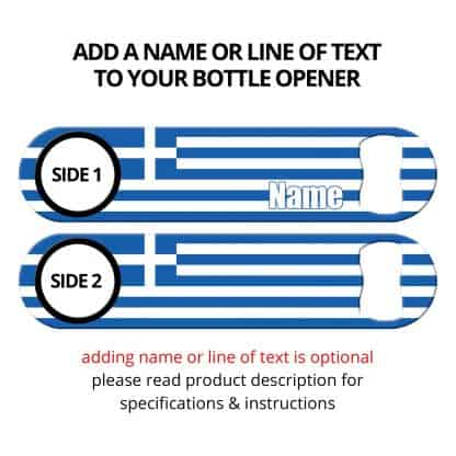 Classic Greek Flag Bottle Opener with Personalization