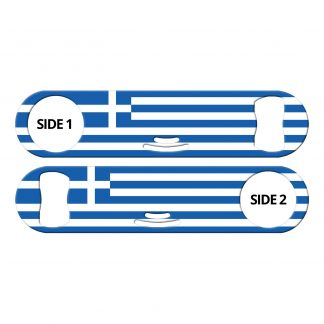 Classic Greek Flag Strainer Bottle Opener